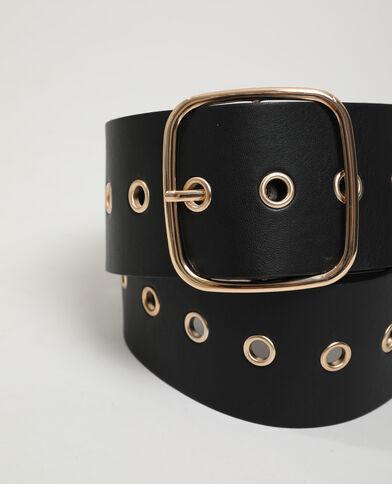 Kunstleren riem zwart - Pimkie