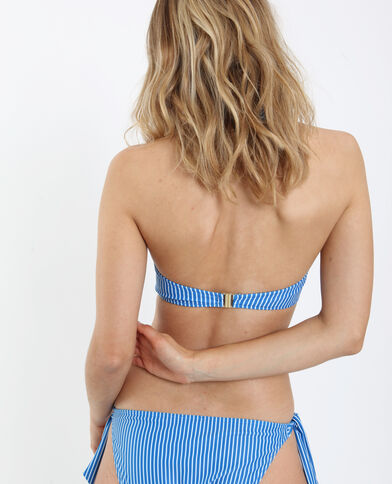 Haut de bikini à rayures bleu