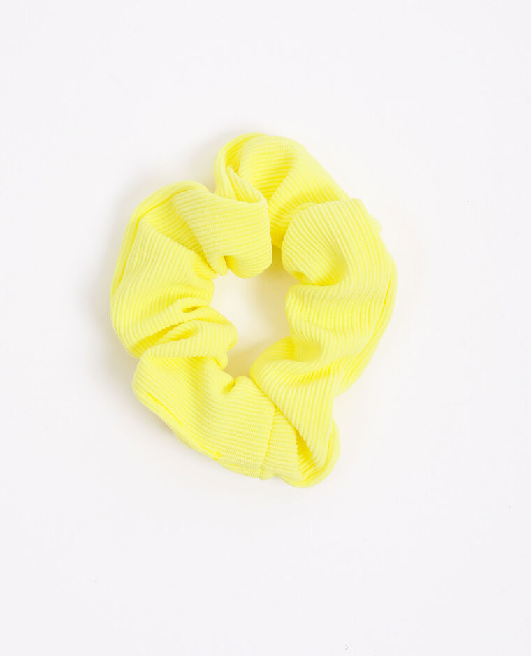 Scrunchie met textuur Fluor geel