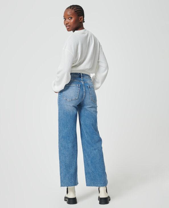 Jeans met wide denimblauw - Pimkie