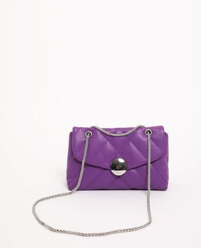 Sac matelassé violet