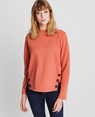 Sweater met knopen poederroze