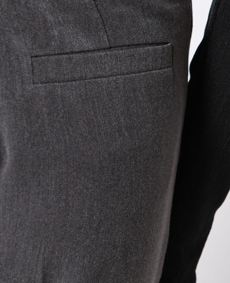 Pantalon cigarette gris anthracite