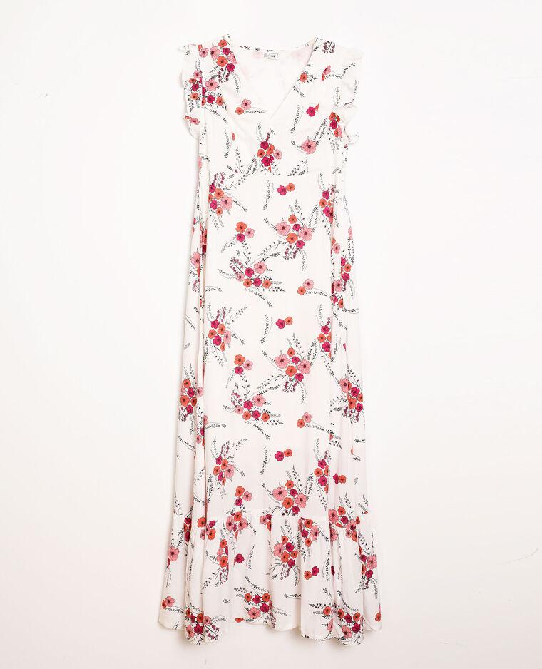 Robe longue à fleurs écru - Pimkie