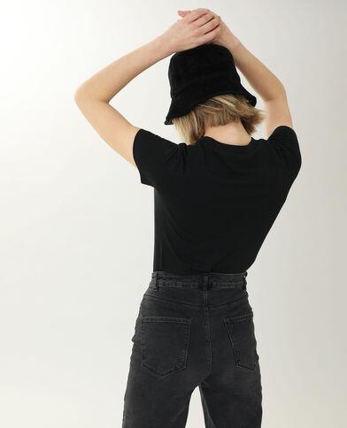 T-shirt met korte mouwen zwart - Pimkie