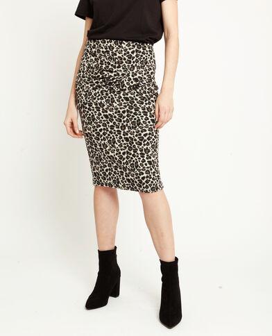 Jupe léopard beige