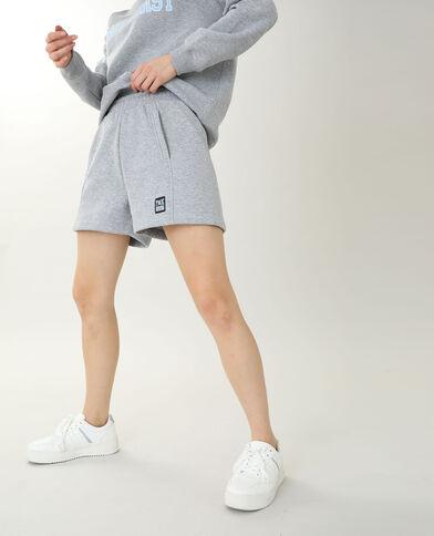 Short van molton grijs