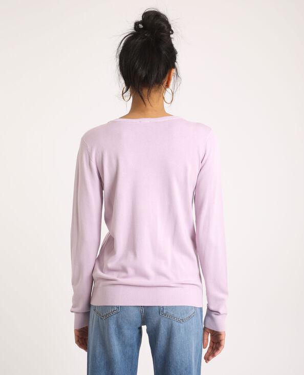 Trui met V-hals violet