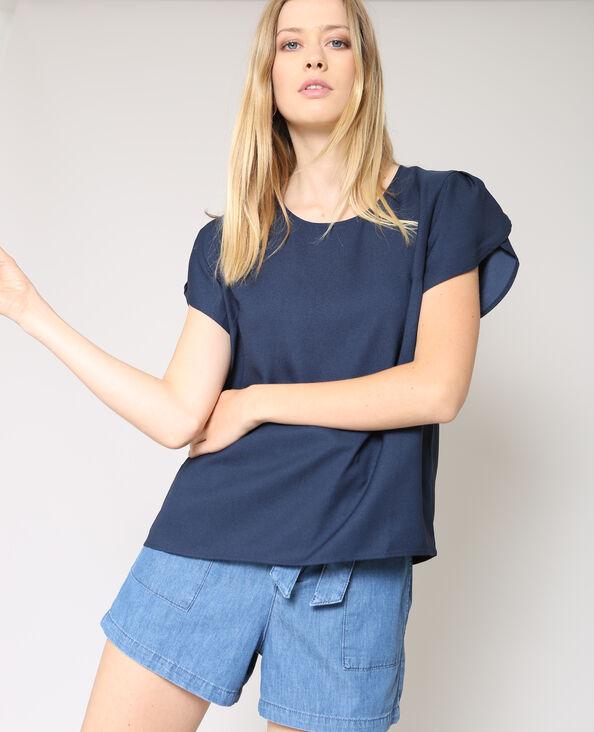 Soepele blouse marineblauw