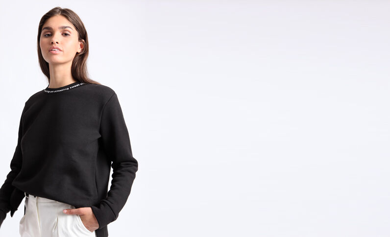 Dikke sweater zwart