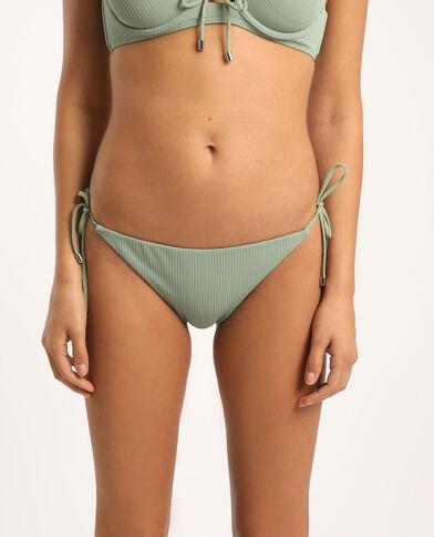 Bas de bikini échancré vert clair