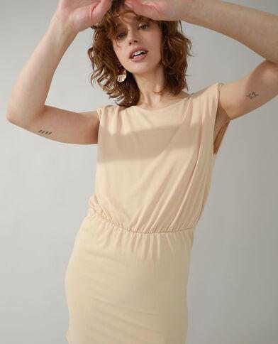 Robe droite à épaulettes beige - Pimkie