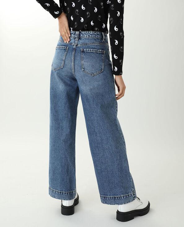 Wide leg jeans met hoge taille denimblauw