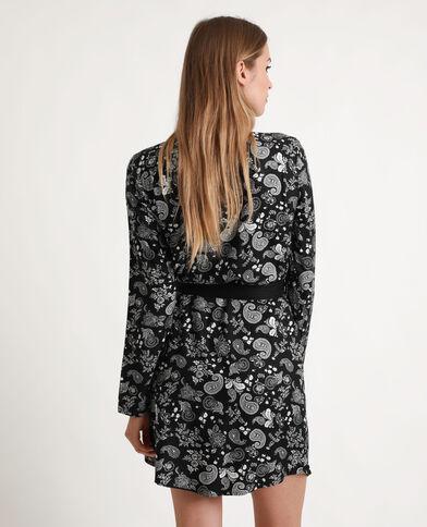 Robe chemise nouée noir