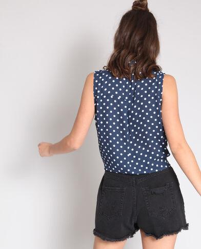 Hemd zonder mouwen marineblauw