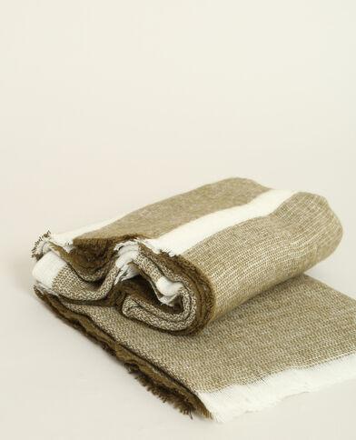 Gestreepte sjaal kaki