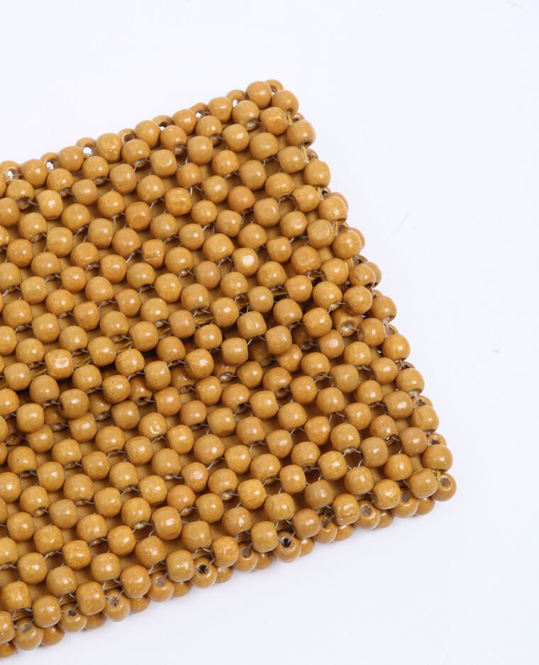 Petit sac en perles beige