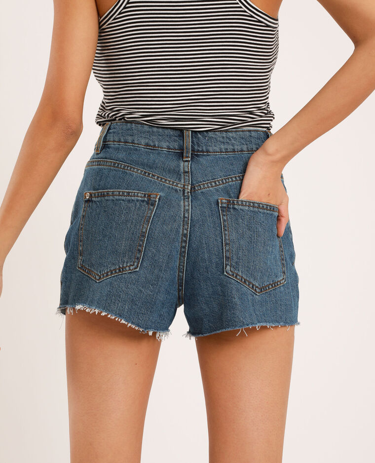 Short mom bleu denim