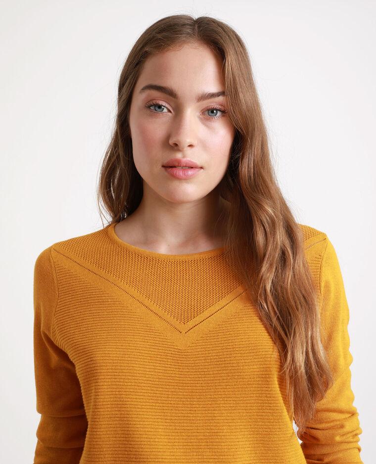 Pull léger jaune