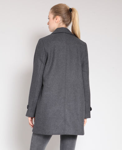 Manteau mi-long gris