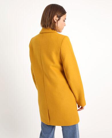 Wollen jas geel