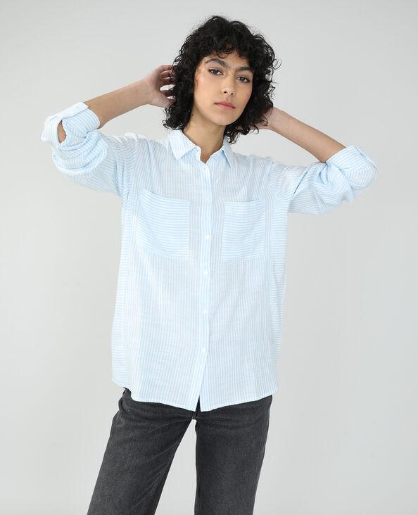 Chemise oversize rayée blanc cassé - Pimkie