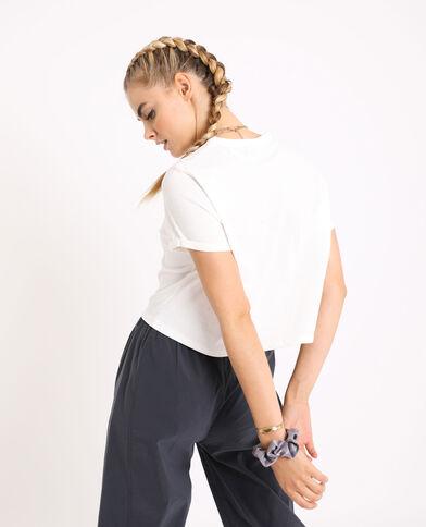 T-shirt court blanc