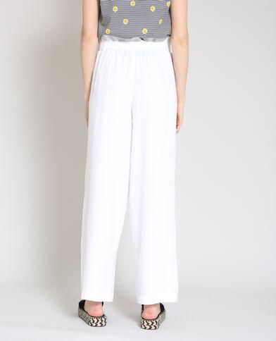 2d89b06e144f5 Pantalon large blanc