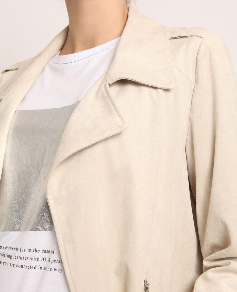 Veste suédine blanc