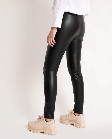 Legging en faux cuir noir