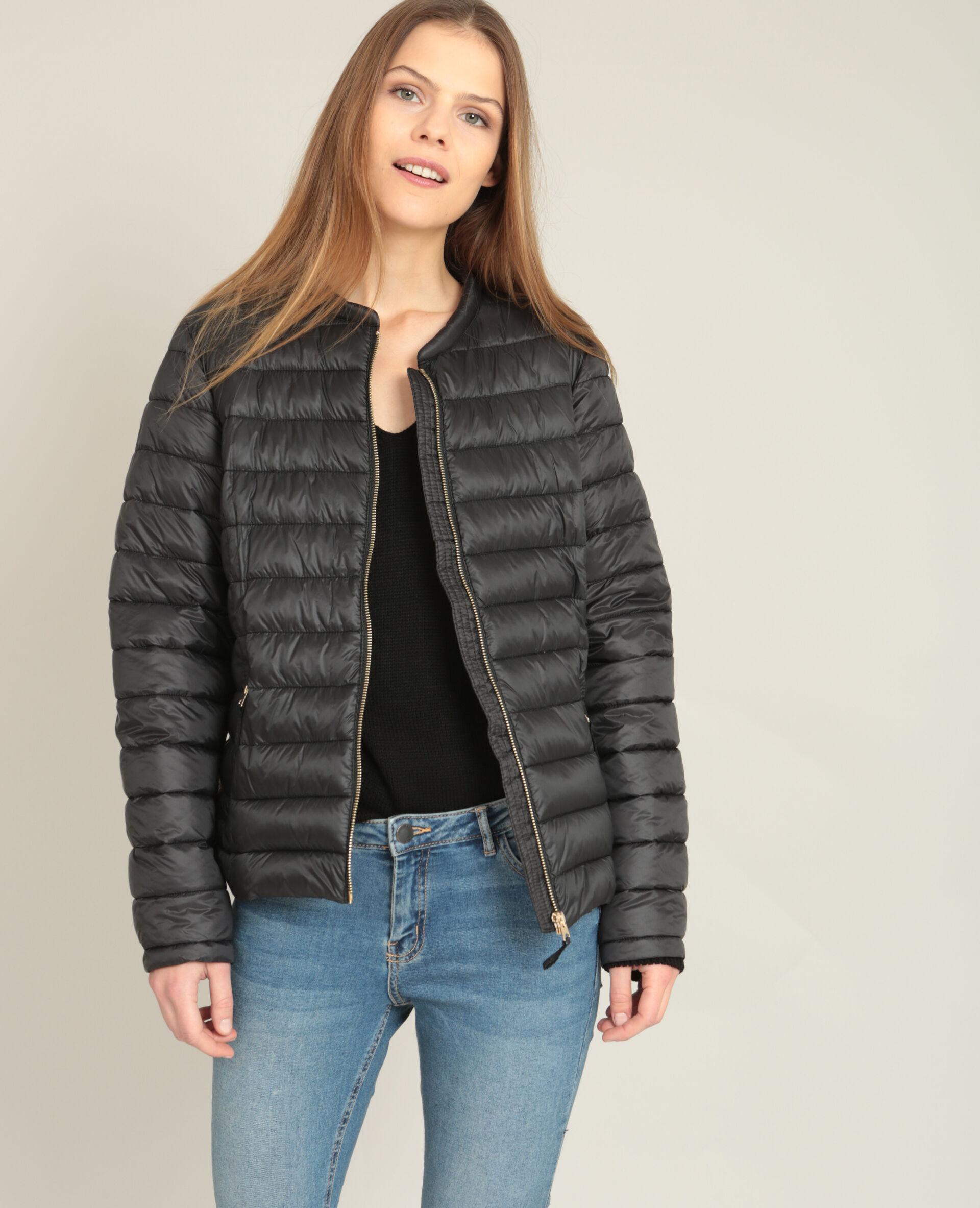 Manteau ample noir femme