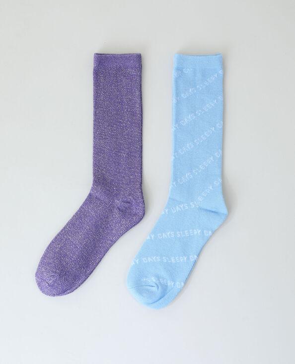 Set van 2 paar sokken violet - Pimkie