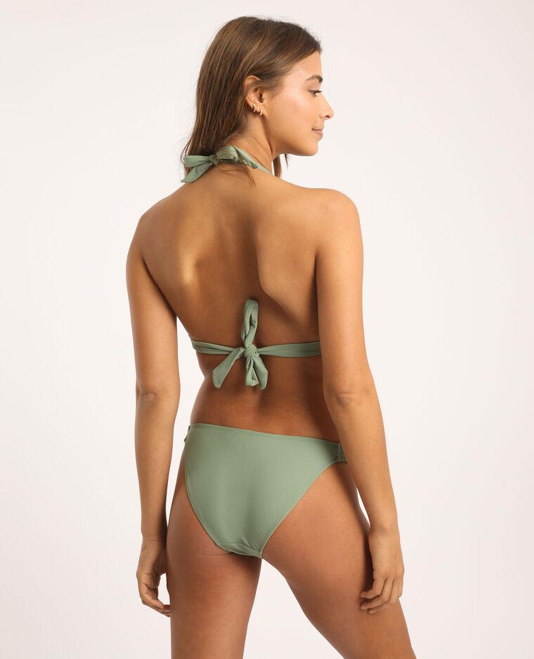 Bas de bikini tressé vert clair