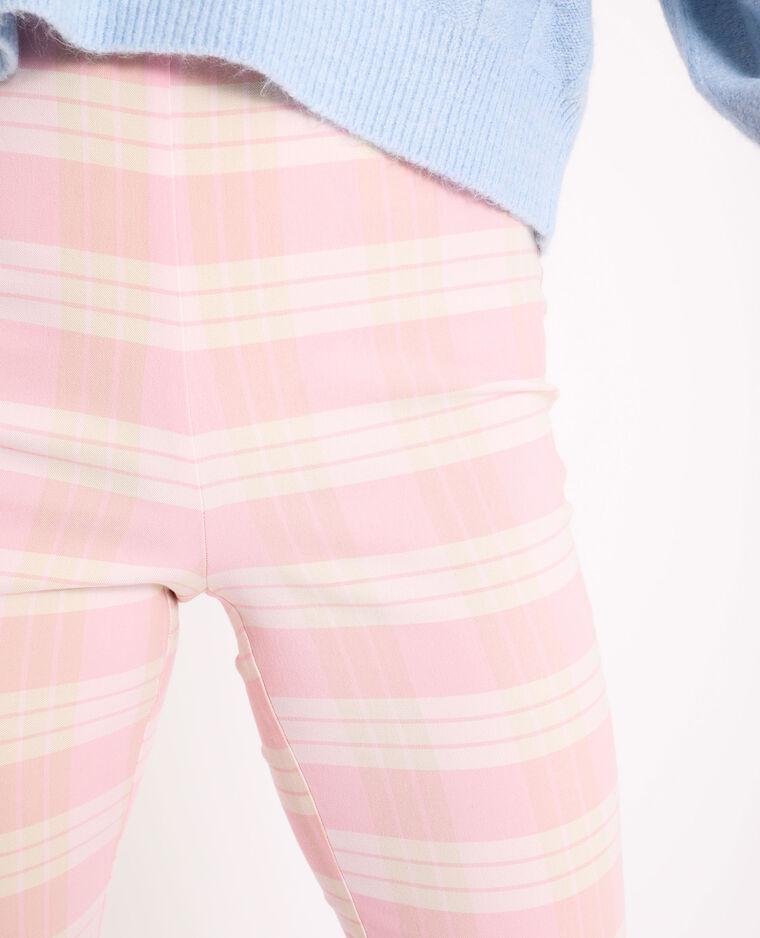 Pantalon stretch rose