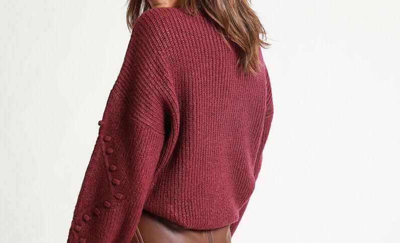 Trui van origineel tricot violet