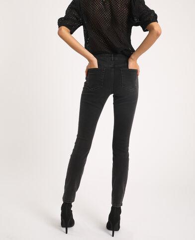Skinny jeans met middelhoge taille antracietgrijs