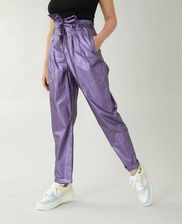 Iriserende broek vioolpaars - Pimkie