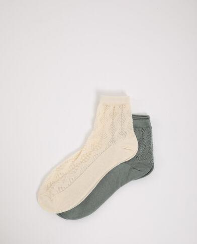 2 paar sokken met motieven roze