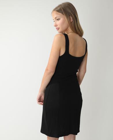 Robe moulante côtelée noir - Pimkie