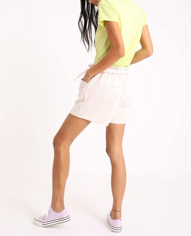 Short met hoge taille wit