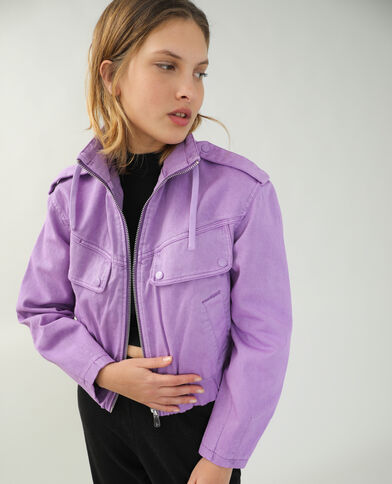 Jeansjasje violet - Pimkie
