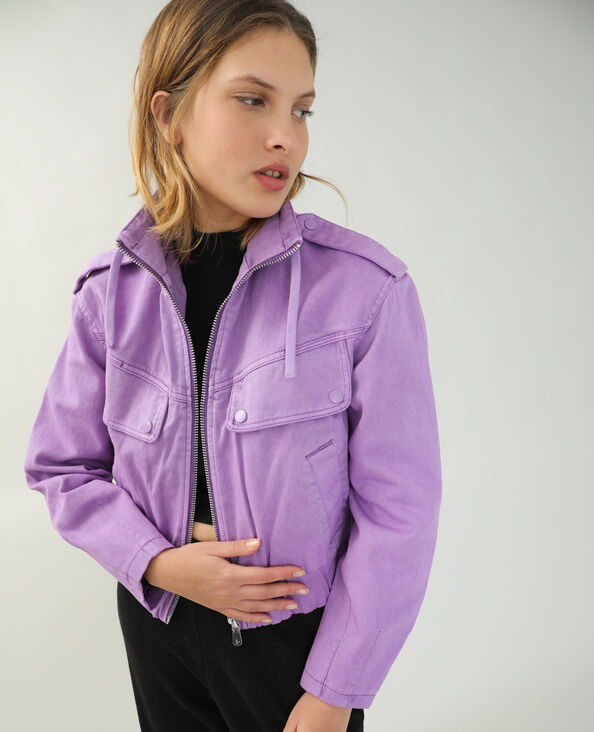 Veste en jean violet - Pimkie