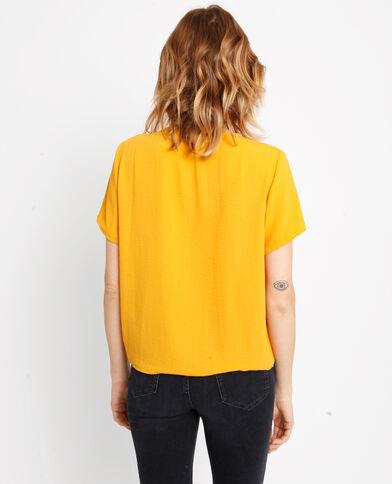 Shirt met strikjes geel