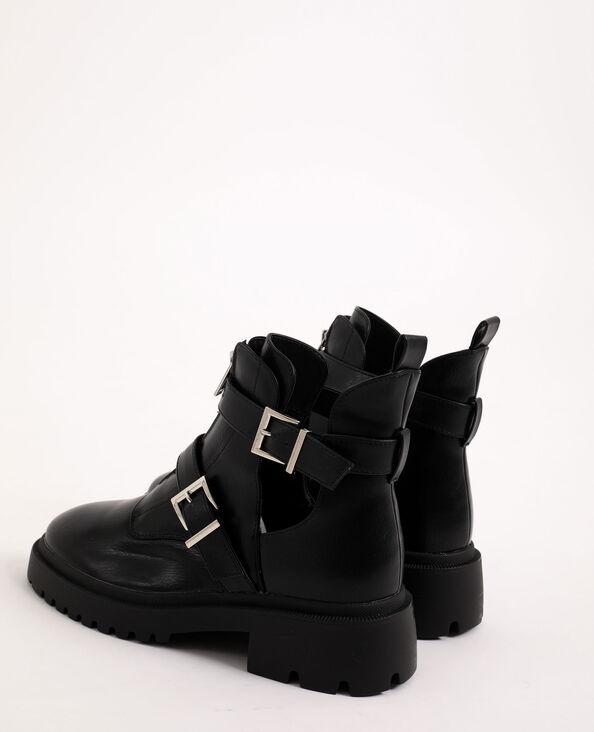 Boots rock à boucles noir