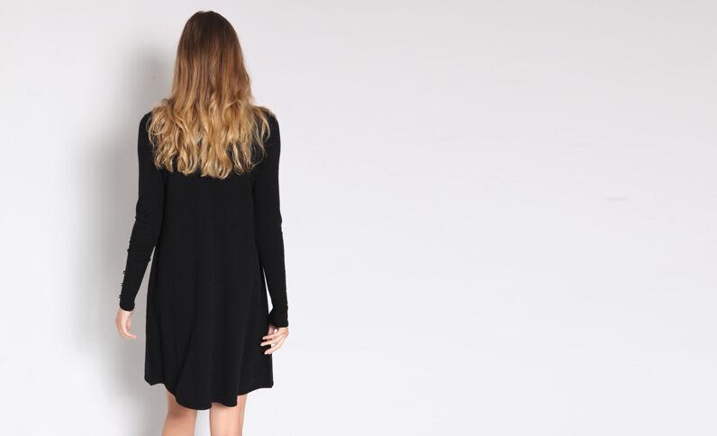 Trui-jurk zwart