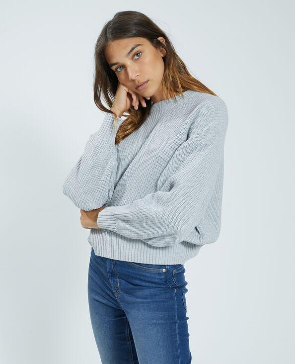 Trui van tricot grijs - Pimkie
