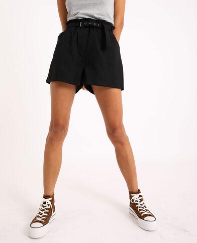 Short met hoge taille zwart