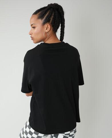 T-shirt oversize à message noir - Pimkie