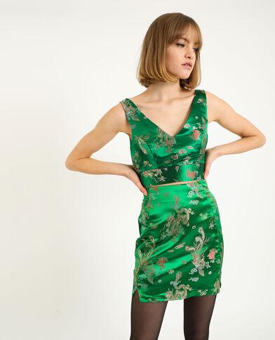 Brassière esprit asie vert