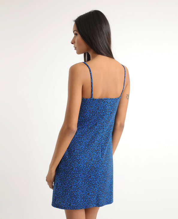 Robe moulante léopard bleu